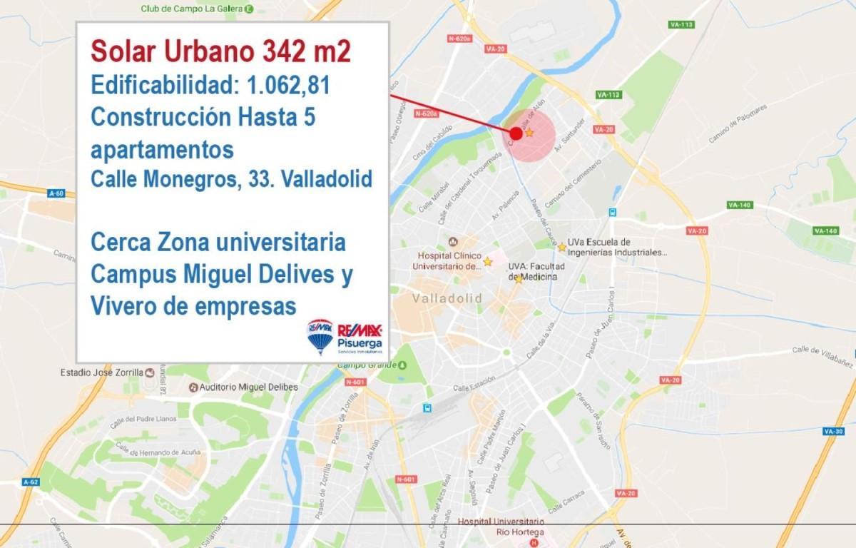 Suelo Urbano en Venta en  Valladolid